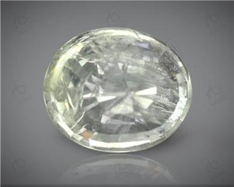 Natural Unheated & Untreated & White Sapphire Certified 7.18 CTS. ( 63359 )