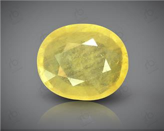 Natural Heated & Treated Yellow Sapphire Certified 7.59 (CTS) ( 60393 )