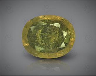 Natural Heated & Treated Yellow Sapphire Certified 3.82 (CTS) ( 60402 ) (D)