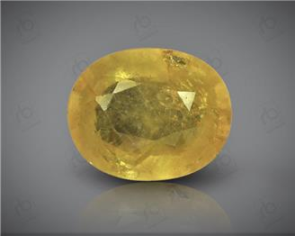 Natural Heated & Treated Yellow Sapphire Certified 3.86 carats -1687
