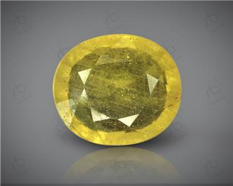Natural Heated & Treated Yellow Sapphire Certified  4.49 carats -1710