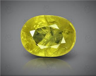 Natural Heated & Treated Yellow Sapphire Certified  3.28 CTS (DIN 86106 )