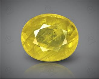 Natural Heated & Treated Yellow Sapphire Certified 3.75 CTS (DIN 86110 )