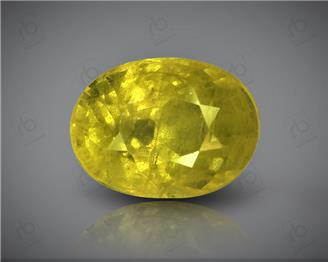 Natural Heated & Treated Yellow Sapphire Certified 3.29 CTS (DIN 86112 )