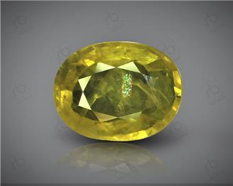 Natural Heated & Treated Yellow Sapphire Certified 3.41 CTS (DIN 86114 )