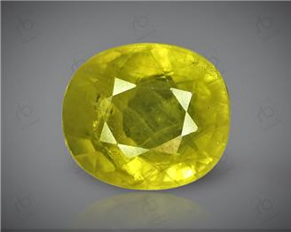 Natural Heated & Treated Yellow Sapphire Certified 3.84 CTS (DIN 86125 )