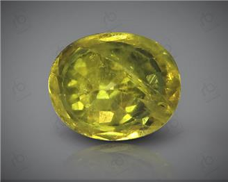 Natural Heated & Treated Yellow Sapphire Certified1.51 CTS (DIN 86130 )