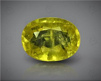 Natural Heated & Treated Yellow Sapphire Certified 3.39 CTS (DIN 86157 )