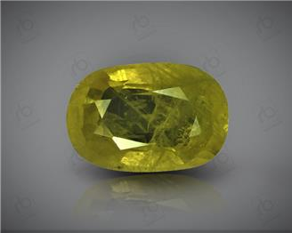 Natural Heated & Treated Yellow Sapphire Certified  3.74 CTS (DIN 86158 )