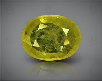 Natural Heated & Treated Yellow Sapphire Certified 4.18 CTS (DIN 86163 )