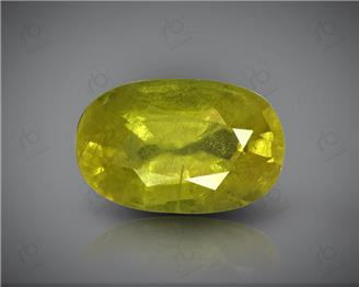 Natural Heated & Treated Yellow Sapphire Certified  3.62 CTS (DIN 86166 )