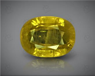 Natural Heated & Treated Yellow Sapphire Certified 4.27 CTS (DIN 86174 )