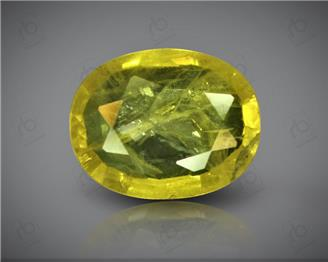 Natural Heated & Treated Yellow Sapphire Certified 4.08 CTS (DIN 86181 )