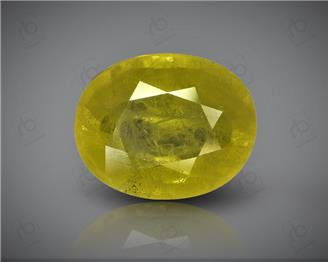Natural Heated & Treated Yellow Sapphire Certified 8.52 CTS (DIN 86191 )
