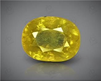 Natural Heated & Treated Yellow Sapphire Certified 3.49 CTS (DIN 86196 )