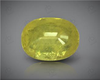 Natural Heated & Treated Yellow Sapphire Certified 3.58 CTS (DIN 86197 )