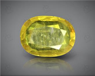 Natural Heated & Treated Yellow Sapphire Certified 1.56 CTS (DIN 86203 )