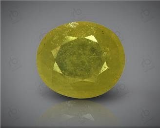 Natural Heated & Treated Yellow Sapphire Certified 4.00 CTS (DIN 86224 )