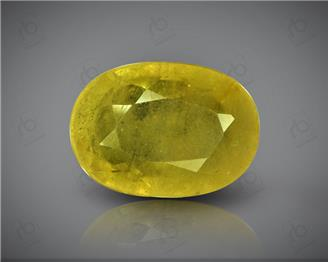 Natural Heated & Treated Yellow Sapphire Certified  6.18 carats -96531