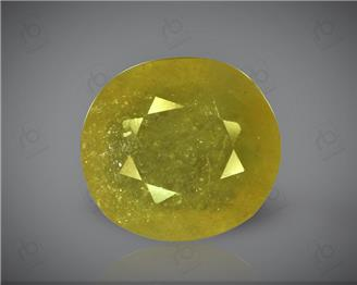 Natural Heated & Treated Yellow Sapphire Certified  6.91 carats - 96534