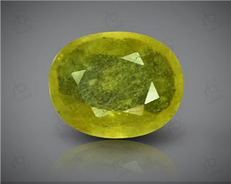 Natural Heated & Treated Yellow Sapphire Certified  3.69 carats -96537