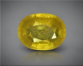 Natural Heated & Treated Yellow Sapphire Certified  4.08 carats -96540