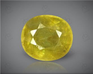 Natural Heated & Treated Yellow Sapphire Certified  6.43 carats -96549  (YELLOW)