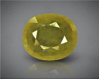 Natural Heated & Treated Yellow Sapphire Certified  4.18 carats -96558