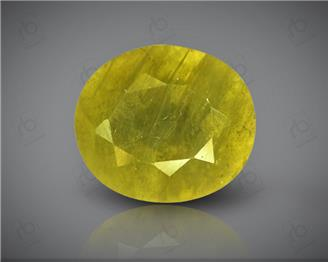 Natural Heated & Treated Yellow Sapphire Certified  4.84 carats -96560