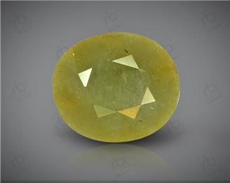 Natural Heated & Treated Yellow Sapphire Certified  5.38 CTS ( 8215/15 )
