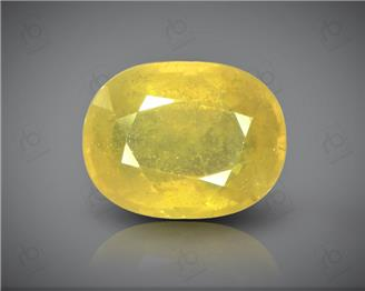 Natural Heated & Treated Yellow Sapphire Certified  7.01 (CTS) ( 88626 )