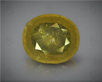 Natural Heated & Treated Yellow Sapphire Certified 7.56 (CTS) ( 60348 )