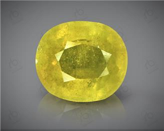 Natural Heated & Treated Yellow Sapphire Certified   7.07 (CTS) ( 60352 )