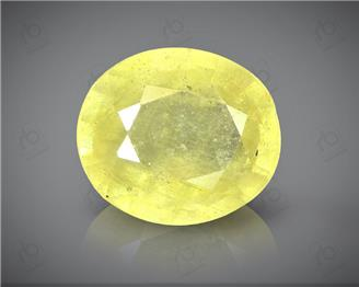 Natural Heated & Treated Yellow Sapphire Certified  5.48 (CTS) ( 60440 ) (D)