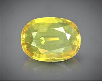 Natural Heated & Treated Yellow Sapphire Certified 3.52 (CTS) ( 85565 )