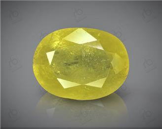 Natural Heated & Treted Yellow Sapphire Certified 4.76 cts ( 1566 )