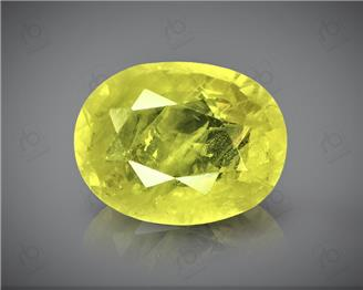 Natural Heated & Treted Yellow Sapphire Certified 3.29 CTS (DIN 86095 )