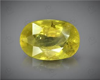 Natural Heated & Treted Yellow Sapphire Certified 3.22 CTS (DIN 86096 )