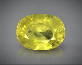 Natural Heated & Treted Yellow Sapphire Certified 3.21 CTS (DIN 86116 )