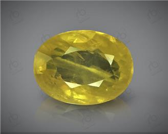 Natural Heated & Treted Yellow Sapphire Certified  3.80 CTS (DIN 86162 )
