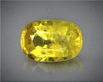 Natural Heated & Treted Yellow Sapphire Certified 3.18 CTS (DIN 86170 )