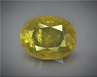 Natural Heated & Treted Yellow Sapphire Certified 3.19 CTS (DIN 86173 )
