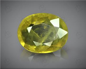 Natural Heated & Treted Yellow Sapphire Certified 3.00 CTS (DIN 86184 )