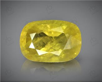 Natural Heated & Treted Yellow Sapphire Certified 3.56 CTS (DIN 86214 )