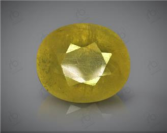 Natural Heated & Treted Yellow Sapphire Certified 7.83 carats -96514