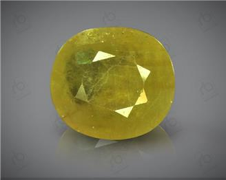 Natural Heated & Treted Yellow Sapphire Certified 5.89 carats -96533