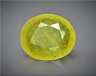 Natural Heated & Treated Yellow Sapphire Certified 3.81 carats -96553