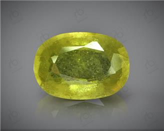 Natural Heated & Treated Yellow Sapphire Certified 3.23 carats -96554