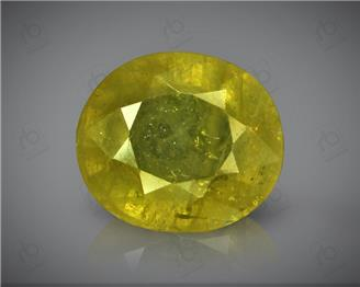 Natural Heated & Treated Yellow Sapphire Certified 4.94 carats -96556