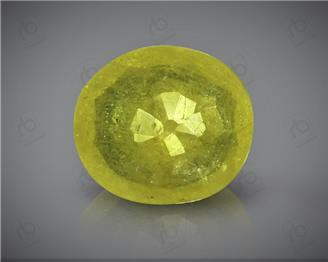 Natural Heated & Treated Yellow Sapphire Certified 3.3 carats -96562